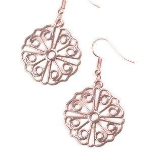 Feeling Frilly - Rose Gold Earrings